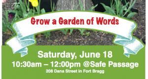 Grow a Garden of Words flyer